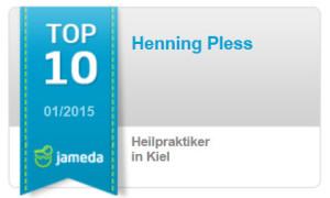 Jameda Abzeichen Januar 2015 für Heilpraktiker-Pless unter den top-10 der Heilpraktiker in Kiel- http://heilpraktiker-pless.de