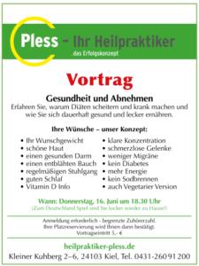 Seminar Abnehmen und Gesundheit - Heilpraktiker Kiel - Henning Pless
