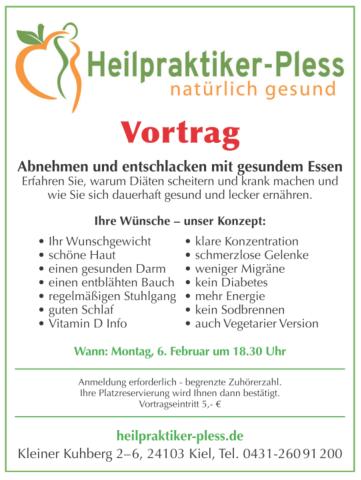 Vortrag - Abnehmen und Entschlacken - Heilpraktiker Pless in Kiel